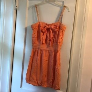 Salmon Pink Bubble Mini Dress